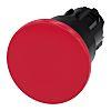 Siemens serie SIRIUS ACT, Ø 22mm, de color Rojo, Redondo, Enclavamiento, IP66, IP67, IP69K