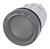 Siemens Clear Pilot Light Head, 22mm Cutout SIRIUS