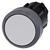 Siemens Flat White - Momentary, SIRIUS ACT Series, 22mm Cutout, Round