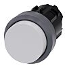 Siemens Extended White - Momentary, SIRIUS ACT Series, 22mm Cutout, Round