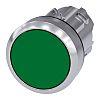 Siemens Flat Green Push Button Head - Momentary,