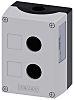 Carcasa de botón pulsador Siemens, 2 aberturas, diám. 22mm 85 x 118,4 x 64 mm