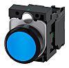 Siemens, SIRIUS ACT Non-illuminated Blue Flat, NO, 22mm Momentary Screw