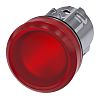 Siemens Red Pilot Light Head, 22mm Cutout SIRIUS