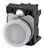 Siemens, SIRIUS ACT, Panel Mount White LED Pilot Light Complete, 22mm Cutout, IP20, 24 V ac/dc