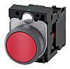 Siemens, SIRIUS ACT Non-illuminated Red Flat, NC, 22mm Momentary Screw