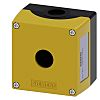 Siemens Yellow Plastic SIRIUS ACT Push Button Enclosure - 1 Hole 22mm Diameter