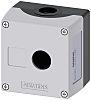 Siemens Grey Plastic SIRIUS ACT Push Button Enclosure - 1 Hole 22mm Diameter