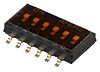 6 Way Surface Mount DIP Switch SPST, Recessed