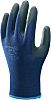 Showa, Blue Nitrile Coated Reusable Gloves, Size 8