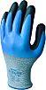 Showa Handsker - flergangsbrug, Polyester, rustfrit stål, Nitril, Blå, Skærefast, 8