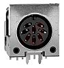 Switchcraft, 62PC 8 Pole Right Angle Din Socket,