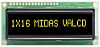 Midas MC11605A12W-VNMLY MC11605 Alphanumeric LCD Display Black, 1
