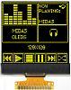 Midas 1.46in Yellow Passive matrix OLED Display 128
