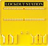 48 Padlock Lockout Station