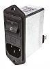 Schaffner,4A,250 V Male Flange Mount IEC Inlet Filter