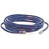 Cinch Connectors Blue Cat5e Cable UTP, 7.62m Male RJ45/Male RJ45