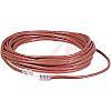 5e kategóriájú kábel UTP, Piros hossz: 7.62m