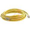 Cinch Connectors Yellow Cat5e Cable UTP, 7.62m Male RJ45/Male RJ45