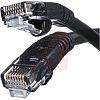 Cinch Connectors Black PVC Cat5e Cable UTP, 910mm Male RJ45/Male RJ45