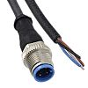 TE Connectivity Straight M8 to Unterminated Cable assembly,