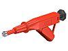 Staubli 24A Red Grabber Clip, 600V Rating -