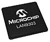 Microchip LAN9303I-ABZJ, 3-Port Ethernet Switch IC,