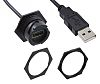 Molex Male USB A to Female USB A USB Extension Cable USB 2.0, 150mm