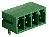Svorkovnice PCB, počet kontaktů: 4, počet řad: 1, rozteč: 3.81mm izolace pájením, orientace těla: Pravý úhel, Konektor