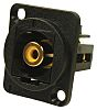 RS PRO Black Panel Mount RCA Socket