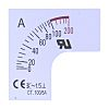 RS PRO Meter Scale, 100A, for use with