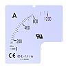 Compteur, , RS PRO, 60A pour Ampèremètre à panneau analogique 72 x 72