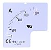 RS PRO Meter Scale, 100A, for use with 72 x 72 Analogue Panel Ammeter