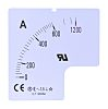 RS PRO Meter Scale, 120A, for use with 72 x 72 Analogue Panel Ammeter