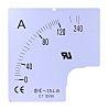 RS PRO Messgeräteskala, 50A, für 96 x 96 analoges Einbau-Amperemeter H.=96mm B.=96mm