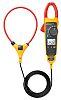 Pinza amperimétrica  Fluke 376 FC, calibrado RS, corriente máx. 2.5 (Probe) kA ac, 999.9 (Jaw) A ac, 999.9A dc,