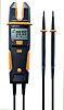 Comprobador de tensión Testo 755-2, calibrado RS, hasta 1000V, prueba de continuidad, IP64, CAT 3 1000V