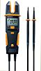 Testo 755-2 LCD Spannungsprüfer mit Durchgangsprüfung, CAT 3 1000 V, CAT 4 600 V, ISO-kalibriert