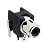 Lumberg Black Right Angle PCB Mount RCA Socket