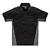 Dickies Black/Grey Men's Cotton Short Sleeved Polo, UK-