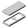 PCB Enclosure, Tin Plated Steel, 2 Pin, 44.8
