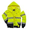 RS PRO Yellow Men Hi Vis Jacket, XL