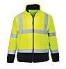 RS PRO Navy/Yellow Men Work Fleece, XL