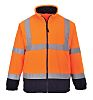RS PRO Navy/Orange Men Work Fleece, XL