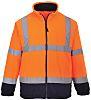 RS PRO Navy/Orange Men Work Fleece, XXXL