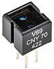 Sensor reflector Vishay CNY70, Montaje en orificio pasante, Fototransistor, , 1 canal