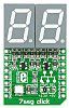 mikroBus Click add-on 2-digit 7-seg LED