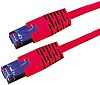 Roline Red Cat5e Cable S/FTP, 10m Male RJ45/Male
