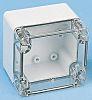Fibox Grey, Transparent Polycarbonate Enclosure, IP66, IP67, 160