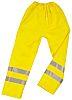 Delta Plus Yellow Hi-Vis Unisex PET Waterproof Trousers